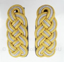SS generaals schouderstukken goud/zilver   (model na 1941)