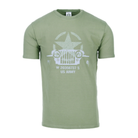 T-shirt Allied Star Willy Jeep - Groen - maat Small t/m XXL