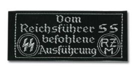 RZM label stof Reichsführer SS