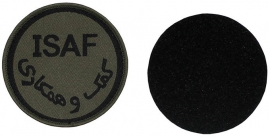 Patch ISAF met velcro (donkergroen)- GROEN - diameter 7,5 cm - origineel