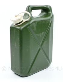Bundeswehr 5 liter kunststof water jerrycan - bruikbaar en schoon - 30 x 22 x 8 cm - origineel