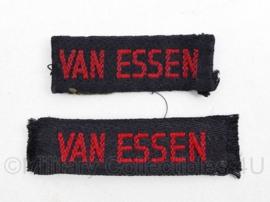 MVO straatnaam PAAR Van Essen - 6 x 2 en 7 x 2 cm - origineel