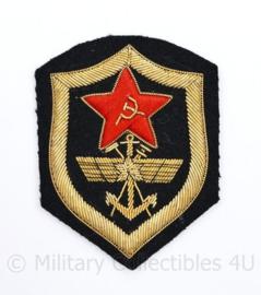 USSR Russische leger embleem metaaldraad - Chevron Spoorwegtroepen en militaire communicatie  - 8,5 x 6,5 cm - origineel