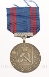 Tjechische SNB medaille For Service To Czech State Security - origineel - metaal - 4 x 8 cm