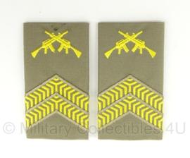 KL Nederlandse leger Stratotex regenjas rangen set - Leidinggevend Korporaal Olk - origineel