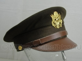 US officier visor cap groen - beste kwaliteit - 57 cm. hoofdomtrek