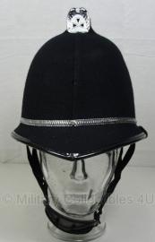 Britse politie Bobby helm - coxcomb top - maat 54, 57, 59 of 61 cm.  - origineel!
