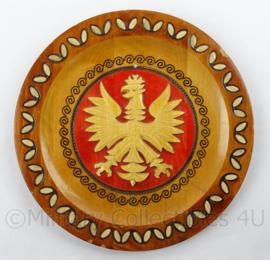Pools wandbord met Poolse leger Adelaar - diameter 25 cm - origineel