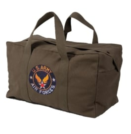 US Army Air Forces Parabag Flyers kit bag - met rits- en drukknoopsluiting - 50 liter - 58 x 30 x 33 cm - GROEN