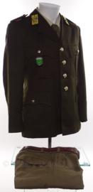 KL Nederlandse leger DT uniform jas met broek en broekriem uit '80 Garde Jagers - Luchtmobiel - maat 46K- origineel