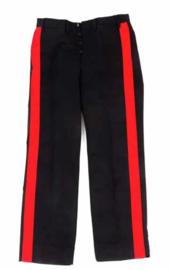 Zwarte Italiaans Carabinieri politie uniform broek met brede rode bies - maat 46 tm. 58 - origineel