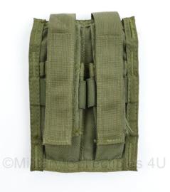 Defensie of US Army groene MOLLE Glock Double Mag pouch - 14,5 x 10 cm - NIEUW - origineel