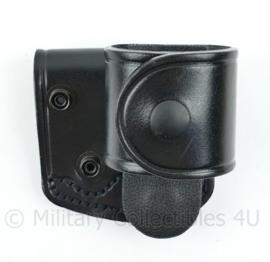 Britse Politie verstelbare koppelhouder zwart leder - PWL RCL-1 H/8 - 8 x 7 x 7 cm - nieuw - origineel