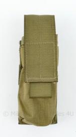 Originele Defensie Korps Mariniers en US Army coyote MOLLE pouch Single Magazin Pistol - 13 x 5 x 4 cm - nieuw - origineel