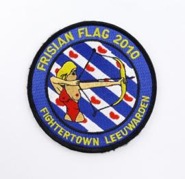 KLU Luchtmacht embleem Frisian Flag 2010 Fightertown Leeuwarden - diameter 10 cm -  met klittenband - origineel