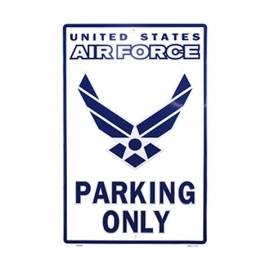 metalen plaat groot  Air force parking only USAF