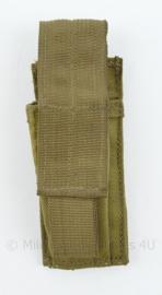 Originele Defensie Korps Mariniers en US Army coyote MOLLE pouch Single Magazin Pistol - 15,5 x 5 x 3,5 cm - nieuw - origineel
