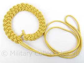 Politie Paradekoord - geel/goud - dik model - origineel