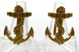 Rijkspolitie te water schouder insignes voor epauletten - afmeting 2 x 3 cm - origineel