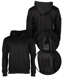 Tactical Hoodie Sweatshirt met klittenband - BLACK