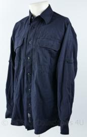 Overhemd lange mouw donkerblauw merk 5.11 Men's cotton Multi-purpose Tactical long sleeve shirt - 5.11 style 72157 - maat Small - licht gedragen -  - origineel