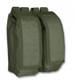 Koppel magazijn tas dubbel AK47 - Molle draagsysteem - 15x7x19cm - Groen