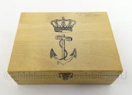 KM Marine houten kistje met anker - origineel