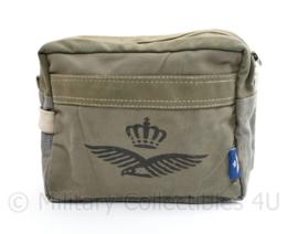 Klu Luchtmacht piloten tas met logo - 18 x 23 x 9 cm -   origineel