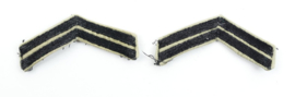 Korps Mariniers rangstrepen paar voor het tropen tenue  - Sergeant - 9 x 7 cm - origineel