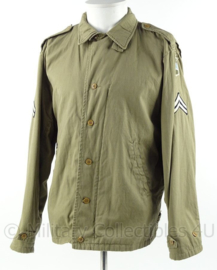 WO2 US Army M41 Field jacket - rang Corporal - 80th Infantry Division - maat 40R - replica