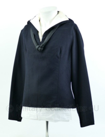 KM Koninklijke Marine donkerblauw matrozen shirt uit 1967 - met rouwknoop - maat 52- origineel