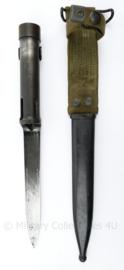 Nederlandse leger FAL type C geweer bajonet met schede - 32,5 cm - origineel
