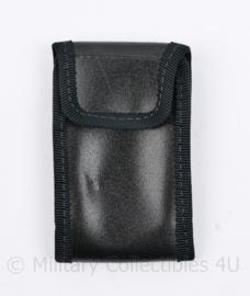 Britse politie zwarte koppeltas met koppel lus universeel - 6 x 1 x 9,5 cm - origineel