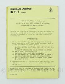 Nederlands leger  instructiekaart IK11-7 memorandum voor de radiotelefonie - origineel