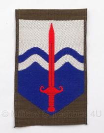 """KL DT eenheid embleem """"Territoriale Troepen"""" - 5 x 8 cm - origineel"""
