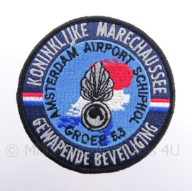 KMAR Koninklijke Marechaussee Gewapende Beveiliging Amsterdam Airport Schiphol Groep 5.3 embleem - met klittenband - diameter 9 cm