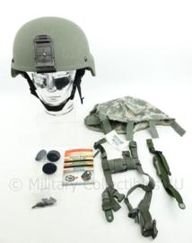 US Army MSA ACH helmet met liner, ACU cover en toebehoren - Advanced Combat Helmet - maat XL - origineel