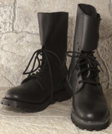 Frans model zwart leren buckle boots - echt leder - nieuw gemaakt