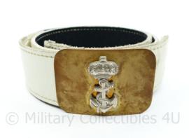 Koninklijke Marine en Korps Mariniers ceremoniële witte koppel - 94 x 4,5 cm - origineel