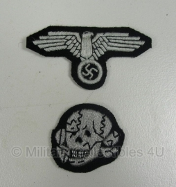 M43 pet en schuitje insigne set manschappen - SS