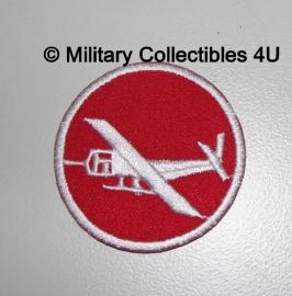 Overseas cap insigne - Glider infantry rood - manschappen  - vanaf april 1942