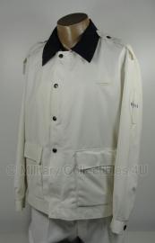 Politie jas zomer -  Heren - wit met donkere of witte kraag - maat 56 - origineel - (art.nr. 15)