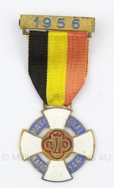 Belgische herinneringsmedaille van een bedevaart NDL = Notre Dames de Lourdes  1956 bronzen medaille - Origineel