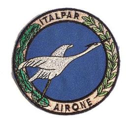 Italiaanse leger embleem Folgore Missione Italpar Airone - 9 cm. diameter - origineel