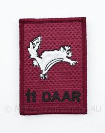 11DAAR Dutch Airborne Art Rangers embleem - met klittenband - 8 x 5,5 cm