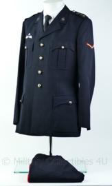 Korps Mariniers Barathea set 1974 met insignes & parawing Rang Marinier 1e klas, jas  maat 49 broek maat 46- Origineel