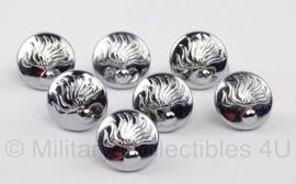 Korps Rijkspolitie knoop - zilver - diameter 15 mm - origineel