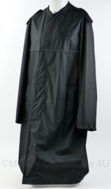 Lange compacte regenjas - zwart - gebruikt - maat 48