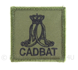 "KL eenheid GVT borst embleem CADBAT ""MIlitaire Academie Cadettenbataljon"" - origineel"