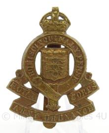 WO2 Britse baret of cap insigne Royal Army Ordnance Corps - afmeting 4 x 5,5 cm - origineel